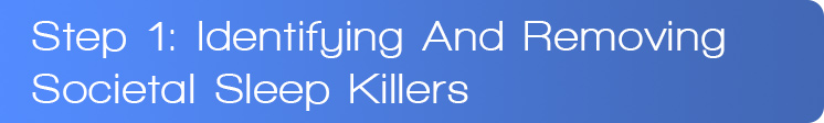 Step 1: Identifying And Removing Societal Sleep Killers